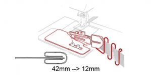 Kanti neljaks keerav kantimishuulik, 42 mm --> 12 mm, KL0775
