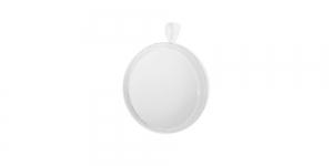 Valge medaljonikujuline riputis, White Circular Pendant Base, 21 x 2mm, EG71