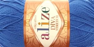 Pehme elastaani sisaldav lõng Diva Silk Effect Stretch; 353 (Hallikassinine), Alize
