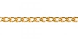 MA147 11 x 6,8 x 2 mm Hele kuldne Alumiiniumkett