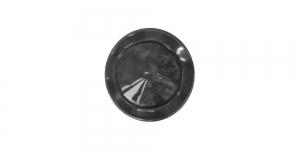 SG142 ø15 mm Must reljeefse mustriga, läbikumav plastiknööp