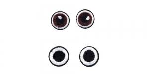 SS44 2 cm ja 2 cm Pruunid ja mustad ümarad silmad, 2 paari