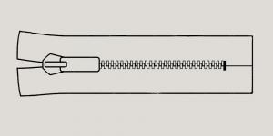 Muovihammas vetoketju Coats Opti 6mm, 26cm-32cm, umpivetoketju, väri: 9138