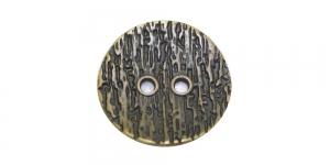 SF226 27mm Antiikpronks, kahe auguga metallnööp