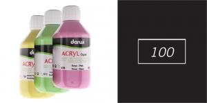Akrüülvärv, läbipaistmatu, 250ml, Darwi Acryl Opaque, BLACK 100