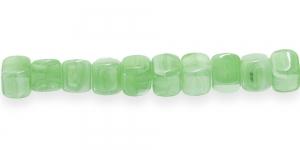 LK84 8mm Hele mururoheline piimjas heledate triipudega kandiline klaashelmes