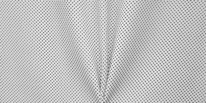Valge, mustatäpiline kostüümikangas, 148cm, 094-111-3410