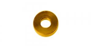 Kuldne, kandilise vormiga rõngas, 3 x 1mm, EF24