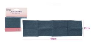 Suur triigitav ehk kuumkinnituv teksariidest paik 12cm x 44cm, Hemline 690.L.LD, hele tesariie