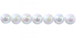 Valge AB-kattega ümar plasthelmes, BP6 12mm