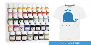 Fabric Paint Vielo, 50 ml #126 Sky Blue