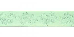 Jacquard satin ribbon, Art.38968, color No. Light Green