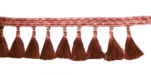 Soliidne kaunistuspael tuttidega, üldlaiusega 12cm, värv tumedam vanaroosa