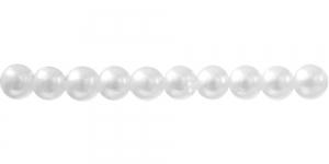 Valge ümar plasthelmes, 5mm BI19