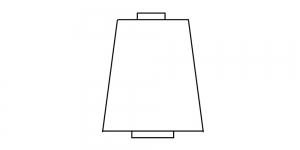 Ohut polyesterilanka, kartiopuola, Nr.60, 10.000 y, Coats Sitar Poly, valkoinen