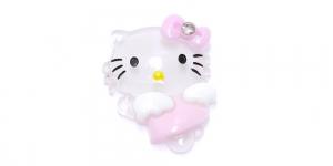 Valge Hello Kitty riputis / 35 x 25mm / AE93