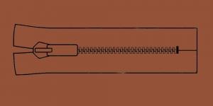 Muovihammas vetoketju Coats Opti 6mm, 26cm-32cm, umpivetoketju, väri: 8868