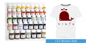 Fabric Paint Vielo, 50 ml #113 Brown Red