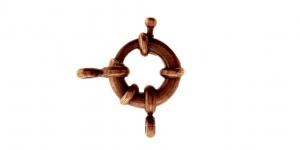 Karabiinhaak Antiikvaskne / Jewellery Clasp with Spacer / 11 x 11 x 2,5mm / EE34A