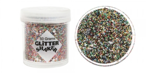 Glitter powder (1x1mm flakes), 50g, multicolor, Trimits GL27