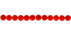 Punane Sametkattega helmes, 6mm, CC12