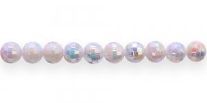 BP17 6mm Valge AB-kattega läbipaistmatu akrüülhelmes