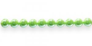AE53 10mm Õunaroheline ümar läbipaistmatu plasthelmes