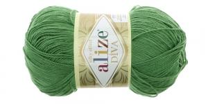 Siidja pinnaga akrüüllõng Diva Silk Effect, roheline