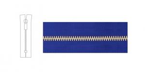 7342NI, 6mm hammastikuga metall-tõmblukk pikkusega 21cm-22cm,sinine, nikeldatud hammastikuga