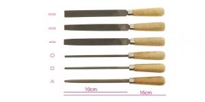 Harrastaja viilide 6 tk komplekt, 160 mm, Anchor, KL0981, TH10