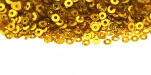 Kuldkollased, ümara vormiga litrid, ø3mm, YB289