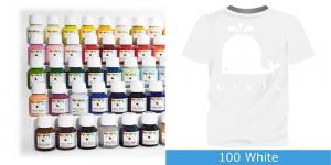 Värvid kanga värvimiseks pintsli, tampooni jms abil Vielo Fabric Paint, 50 ml, Värv: valge, #100 White