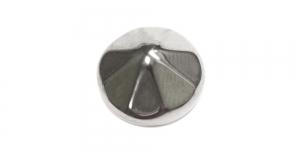 Hõbedane, metallist nööp, 12mm, 18L, SFF221