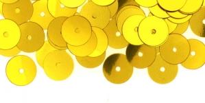 YB94 / Lamedad kettakujulised plastlitrid, kuldsed / ø8mm