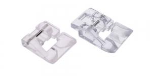 Läbipaistvad pärliõmbluse taldade komplekt, 2 tk, Janome ja Elna õmblusmasinatele õmbluslaiusega max. 7 mm