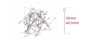 Aaspea-nööpnõelad; 100tk, 30 × ø0,5mm