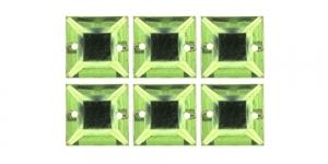WH38 12mm Helerohelised õmmeldavad kristallid, 6tk