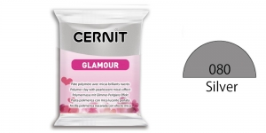 Polymer clay, CERNIT GLAMOUR, Pearlescent and metallic colours, 56g
