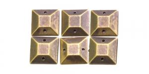 WB2 12mm Antiikpronks, ruudukujuline dekoraatiivkivi, 6tk