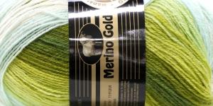Villasisaldusega lõng Merino Gold Batik Design, värv 826 (Rohekad toonid), Madame Tricote