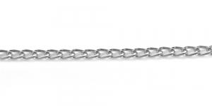 Hõbedane alumiiniumkett, 7 x 4 x 1 mm, MA135