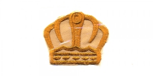 Kuldpruun kuninga kroon, 6 x 5 cm, AT23