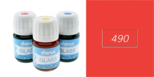 Lasiväri Darwi Glass, 30ml, VERMILION 490