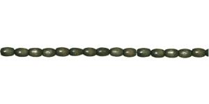 IN16A 6x5mm Oliivirohline naturaalne piklik lakitud puithelmes ca. 60tk kmpl