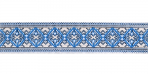 Filigraanse rombimustriga kaunistuspael 35mm, Art.35984FC, värv sini-valge