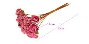 Paberlillede kimp, roosid, 12 õit, õis ø12 mm, roosad, B1971PK