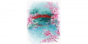 Cross-Stitch Kit Riolis, 1745 Sakura. Bridge