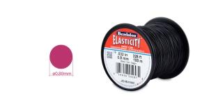 Läbipaistev tugev ümarkumm Elasticity, ø0,8 mm, 100 m, must, Beadalon JE0.8B-0100M