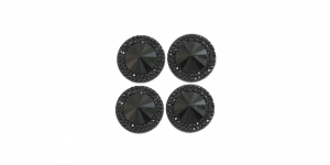 WD4 16mm Must, läbipaistmatu dekoraatiivkivi, 4tk