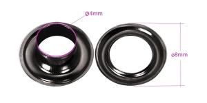 Sirkkarenkaat, messinkista, ø4 mm, 20 kpl, pinnoite: musta nikkeli, KL0114
